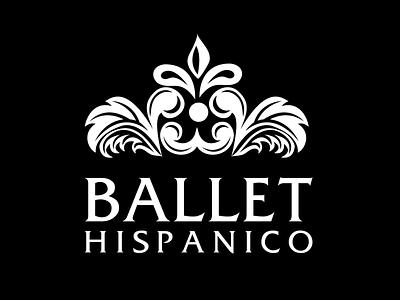Logo: Ballet Hispanico friz quadrata identity flourish serif black and white branding logo illustrator