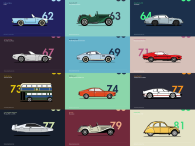 A Brief History of James Bond Car_ Part l illustration project personal history bondcars 007