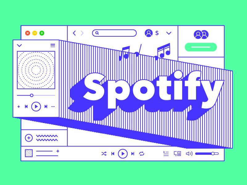 Spotify favorite illustration vector player music spotify