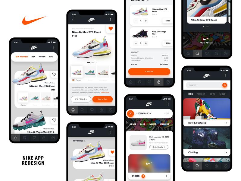 [Nike] Store App Concept nike app ecommerce app design shop ux ui interface concept redesign nike