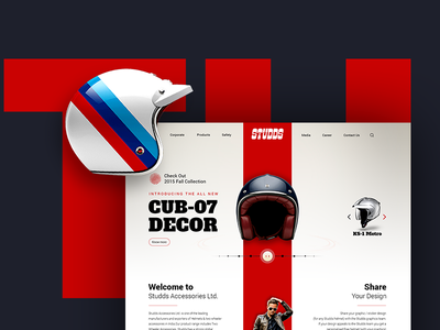 Studds Helmets: Website Concept