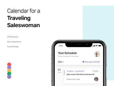 Case Study: Calendar Mobile App for a Traveling Saleswoman