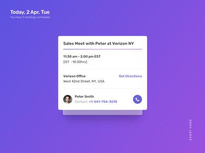 Calendar App: Event Card