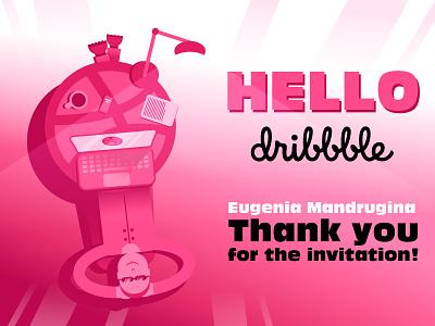 Hello Dribbble! shot debut
