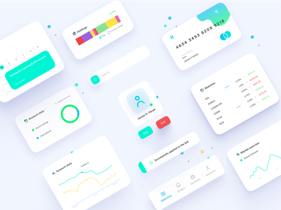 Trading UI Elements Design market components trading art illustrations illustrator colors charts web app illustration uidesign vector material clean ui clean design clean