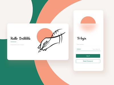 Hello dribbble art app illustration website typography web ui design