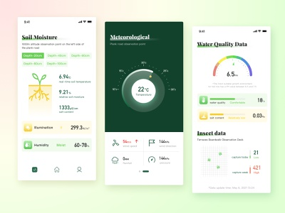 Agricultural monitoring art minimal icon agricultural illustration ux colorful branding app design ui