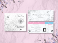 Wedding Passport invitation Template