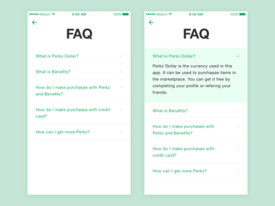 FAQ mobile app how to frequently asked questions ux ui answer question explain answers questions faq