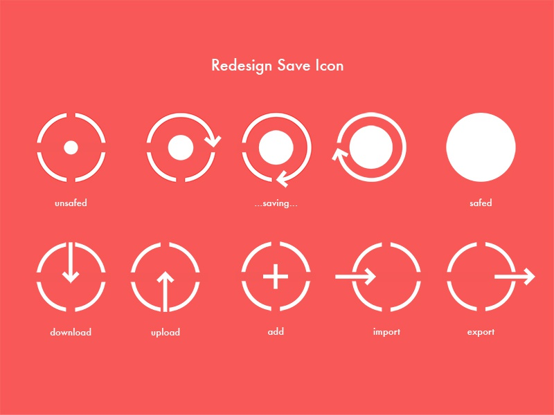 Redesign Save Icon Idea save redesign icon unsafed saving safed donload upload add import export