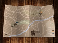 hiking map - overall view - miniature art caves