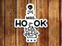 Mrs. Hook Sticker