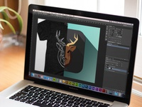 deer icon to screenprint shirt