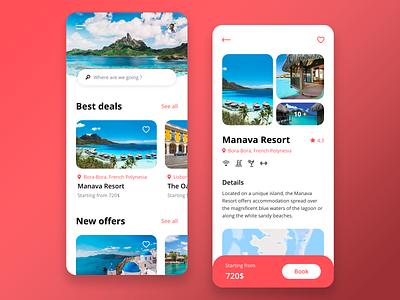 Hotel booking coral booking mobile ios app adobe xd ux design ux ui design ui minimalist interface