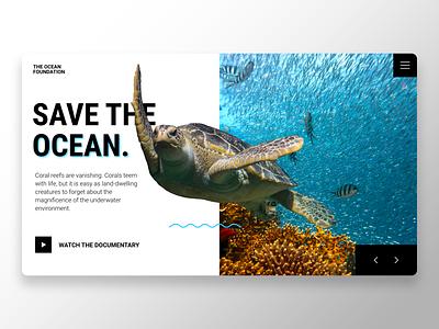 Save the ocean blue ocean web design web adobe xd minimalist interface ux design ux ui design ui