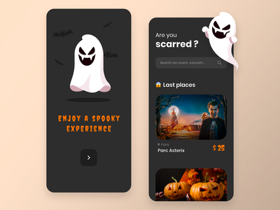 Happy Halloween! dark web design web adobe xd ux design ux ui design ui minimalist interface dribbbleweeklywarmup halloween