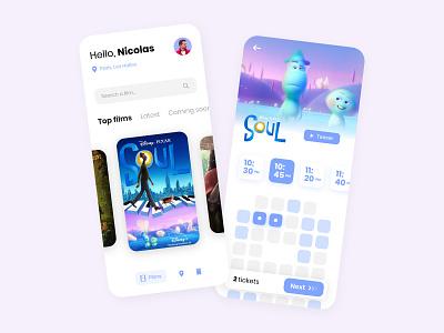 Cinema movie booking 🎬🍿 gradient soul cinema mobile ios app adobe xd ux design ux ui design ui minimalist interface