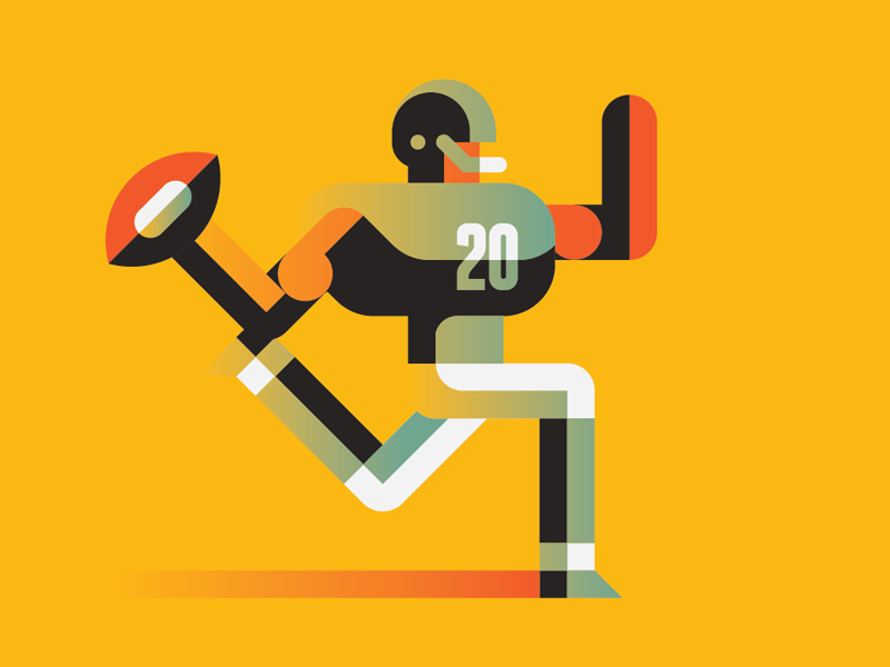 Football Player football illustration editorial goran running character run sport player marco romano