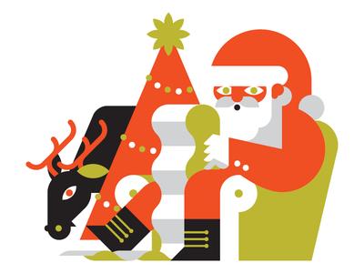 Santa Claus christmas xmas goran illustration editorial noel natale santa claus marco romano