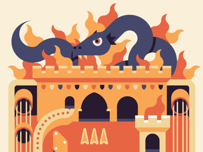 Dragon Pinball illustration editorial goran wired pinball cheat dragon castle fire medieval tower shield