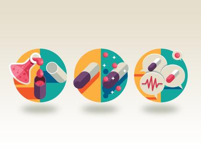 Modern medicine goran icons medicine pills hospital health vaccine wired