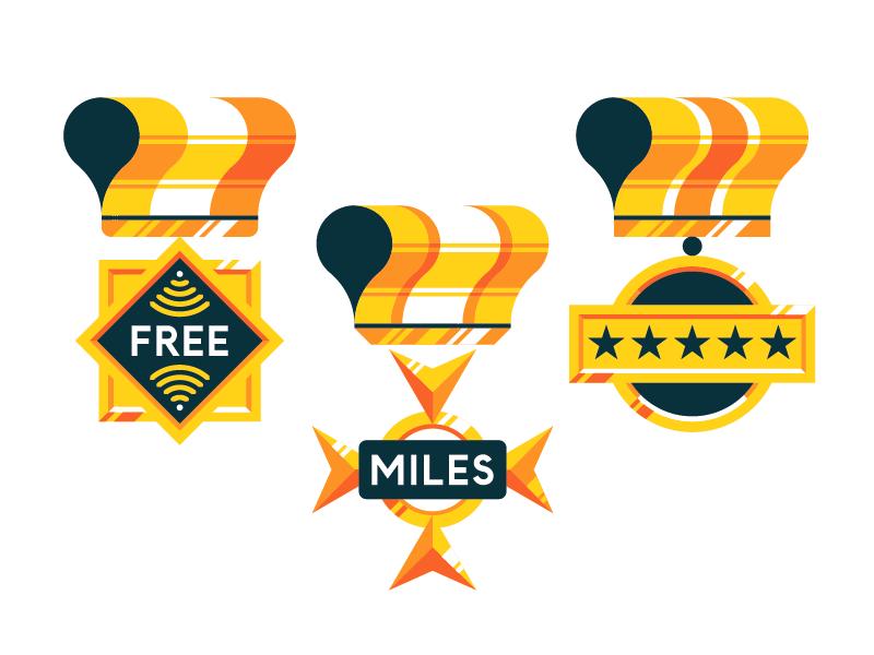 Medals medal gold bling bling ribbon badges pin honor benefit loyalty awards merit label