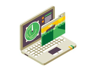 WSJ - Laptop monitoring sonar radar wsj laptop