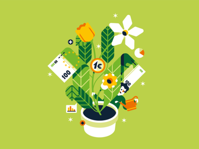 Il Sole 24 Ore financial economy investment money euro green plant flower leaf