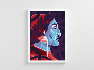 Dante poster portrait dante alighieri