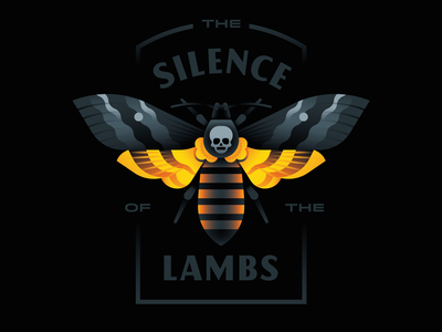 The Silence of the Lambs cannibal lecter hannibal skull lamb silence moth goranfactory marco romano illustration goran