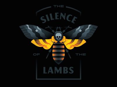 The Silence of the Lambs cannibal lecter hannibal skull lamb silence moth goranfactory marco romano illustration goran