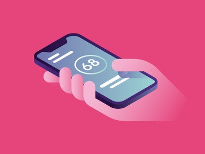 Enel X - Smartphone illustration goranfactory marco romano energy enel hand recharge app iphone smartphone