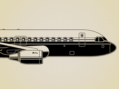 Airplane for Wired Italy goran illustration wired airplane plane marco romano