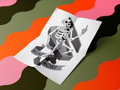 Memento Mori coffin fuck illustration goranfactory marco goran romano grave skeleton bones poster memento mori