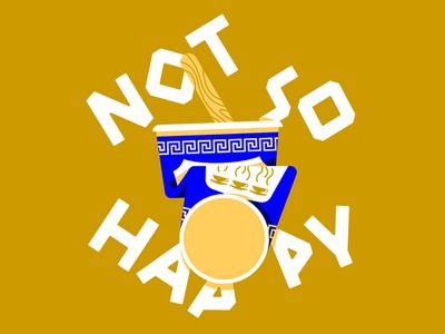 Not so happy! happy coffee marco goran romano new york greek type greek lettering coffee cup greek coffee cup we are happy to serve you