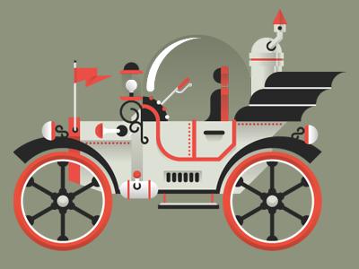 Time Machine goran illustration icon editorial vintage car marco romano georgia tech time machine steam punk ford t model