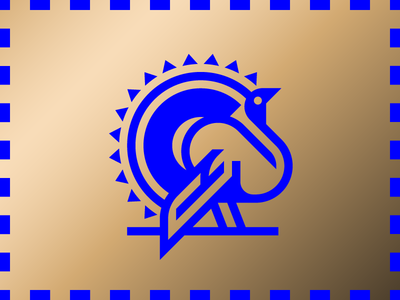 Turkey icon logo blue gold thanksgiving turkey