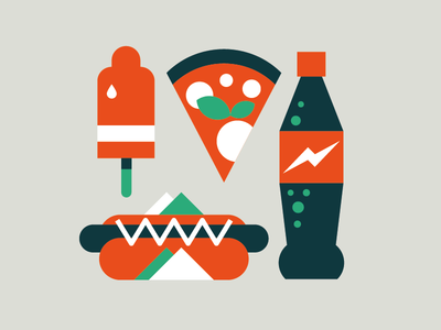 Fast Food goran illustration wired coke pizza marco romano fast food junk food ice cream hot dog coca cola