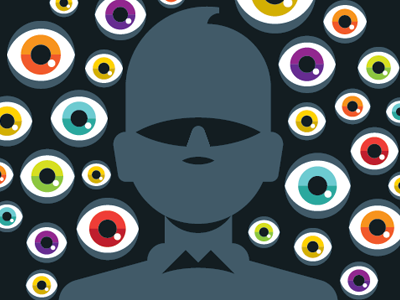 The dark side of Facebook goran editorial illustration facebook wired eye profile spy 1984 orwell goranfactory marco romano dark side social network big brother
