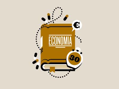30-Second Economics goran editorial icon goranfactory illustration money economy book hardcover euro time pills learn marco romano 30 seconds