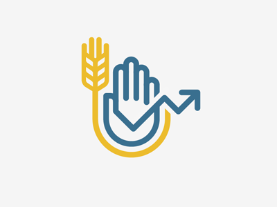 Kansas Economic Education Logo - Proposed hand wheat graph kansas