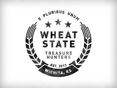 Wheat State Treasure Hunters penny kansas wheat stars latin badge