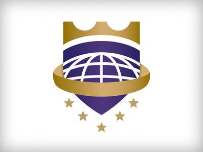 Leader WIP #1 badge shield royal global stars globe crown