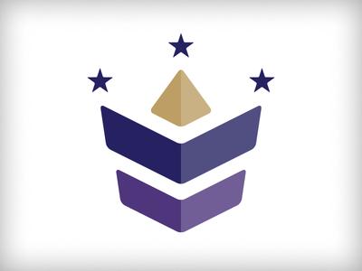 Leader WIP #2 badge shield royal global stars globe crown