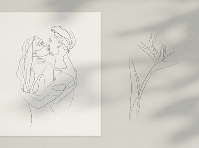The Touch. Line Art Collection
