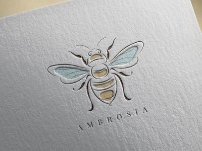 Ambrosia. Logo template