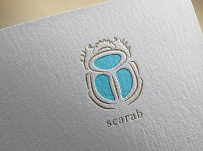 Scarab. Logo template