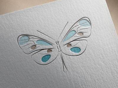 Butterfly. Logo template