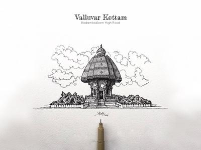 Valluvar Kottam madrasters valluvarkottam pointalism penwork paarvaigal mosque madras india ilovemadras dotwork chennai artistsix