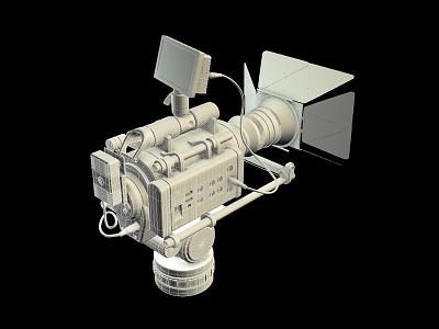Digital Camera 3d model video camera maya viewport 2.0